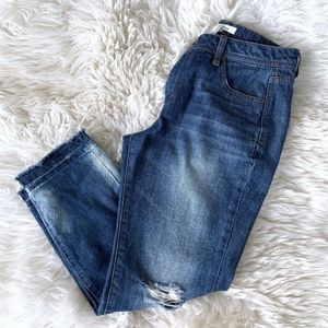 Forever 21 Straight Crop Raw Release Hem Jeans